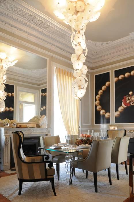 Eclectic style dining room by Critério Arquitectos by Canteiro de Sousa Eclectic
