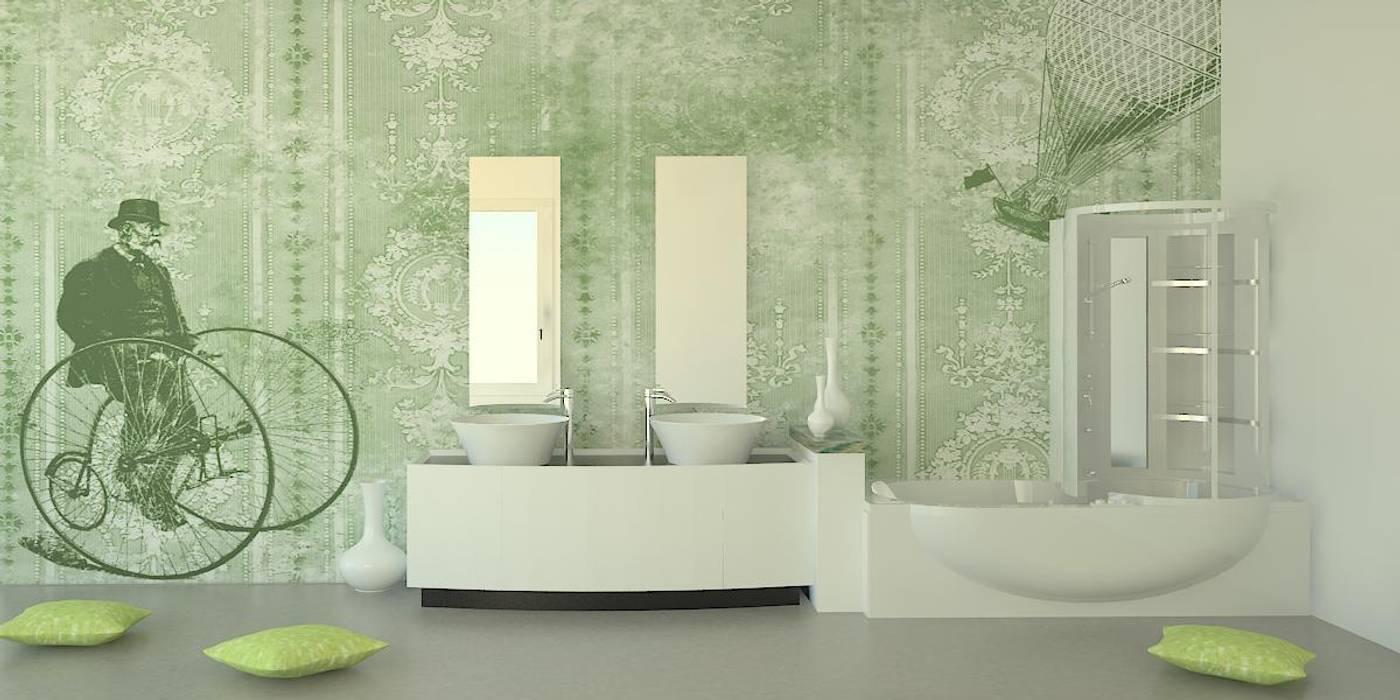 milleottocento verde: Pareti in stile  di PIXIE progetti e prodotti