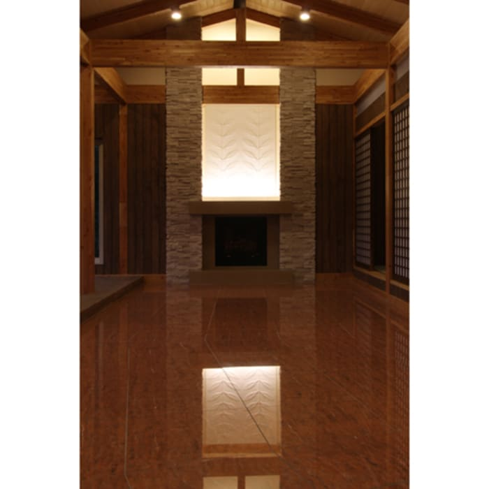 Salon rustique par 関建築設計室 / SEKI ARCHITECTURE & DESIGN ROOM Rustique