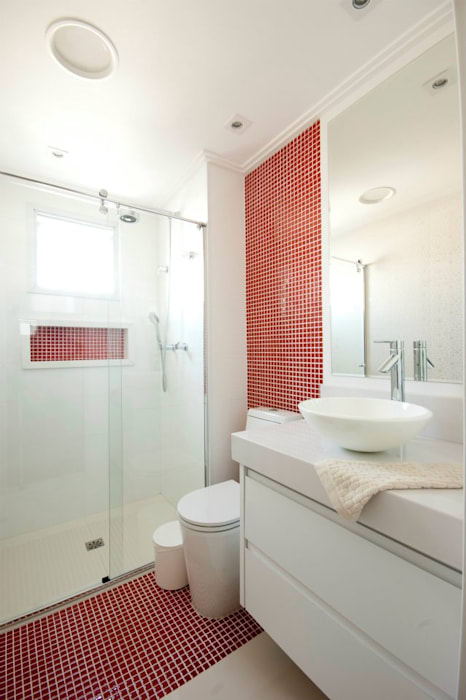 ProArq Brasil Modern bathroom Ceramic Red