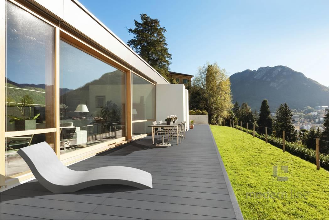 Płyta Longer: styl , w kategorii Ściany i podłogi zaprojektowany przez Modern Line