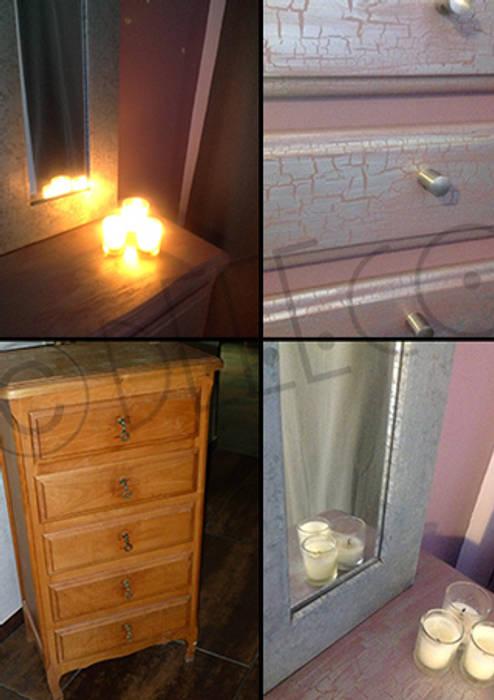Dormitorios de estilo  por dEEEco,