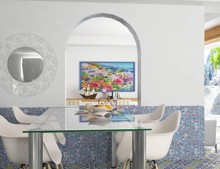 Casa in costiera amalfitana: soggiorno in stile di grafica2d3d   homify