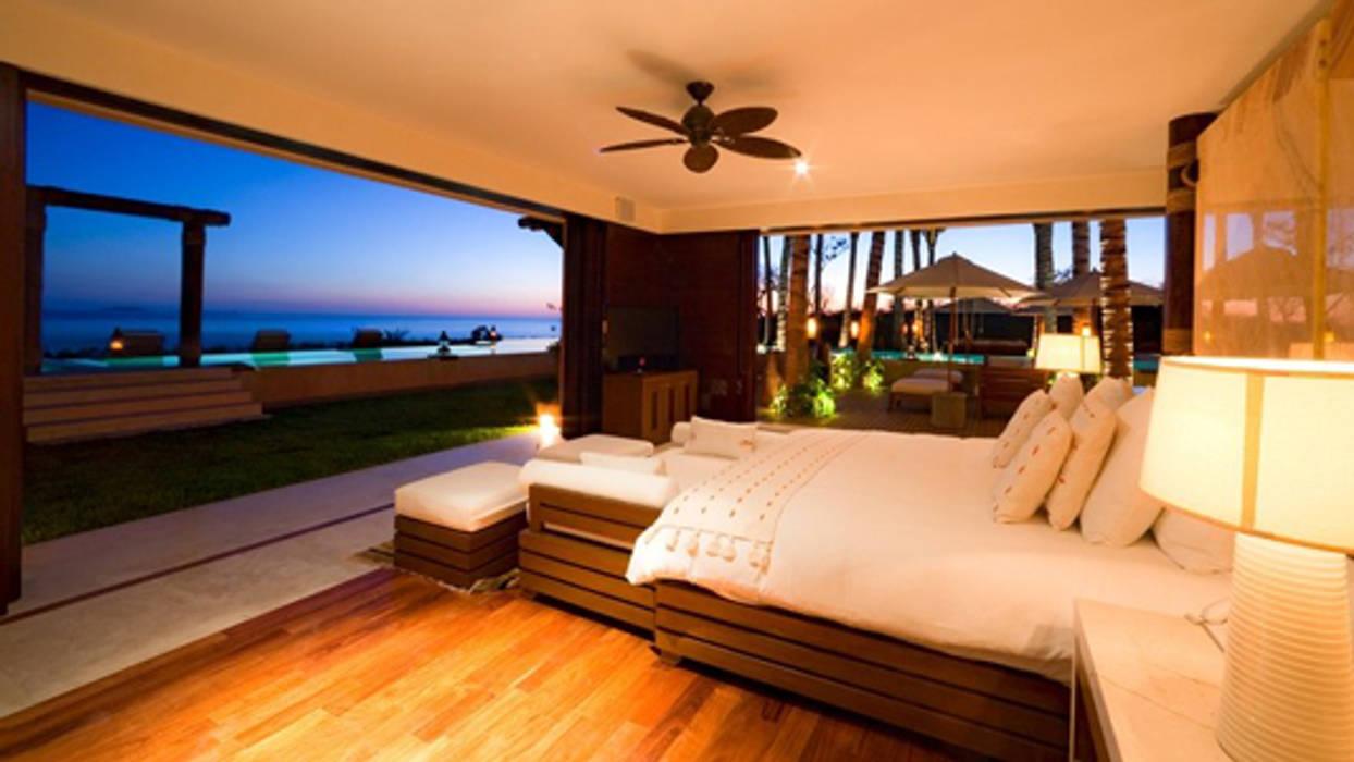 Casa Siete: Recámaras de estilo  por BR  ARQUITECTOS, Tropical