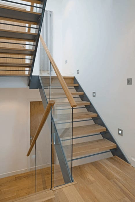 Staircase Modern Corridor, Hallway and Staircase by The Chase Architecture Modern Wood Wood effect