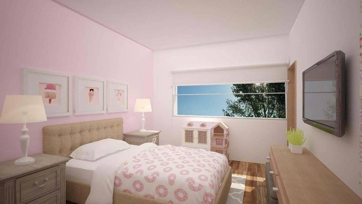 Recámara niña Dormitorios modernos de Ana Corcuera Interiorismo Moderno