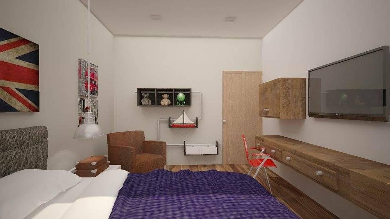 Recámara niño Dormitorios de estilo moderno de Ana Corcuera Interiorismo Moderno