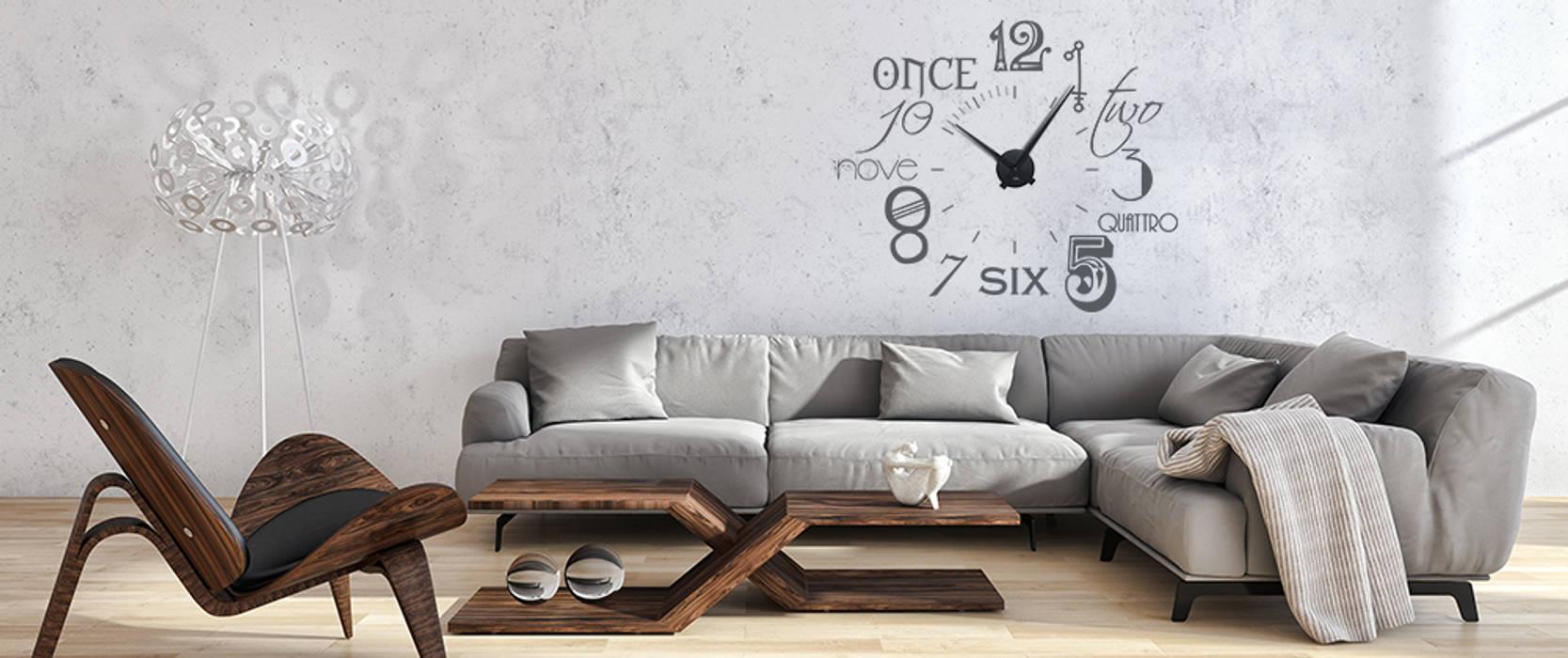 Wandtattoo Mit Uhrwerk Zahlen Wohnzimmer Von Graz Design