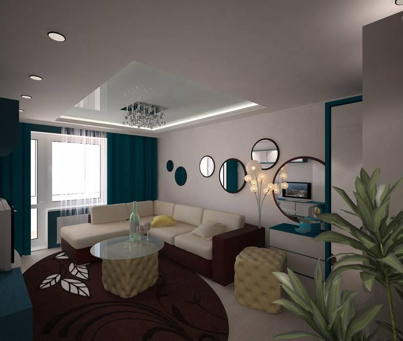 однокомнатная квартира ул.Менжинского Гостиная в классическом стиле от 3D студия Классический