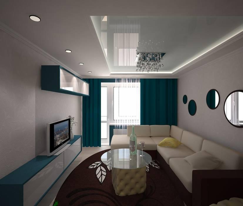 3D студия Ruang Keluarga Klasik