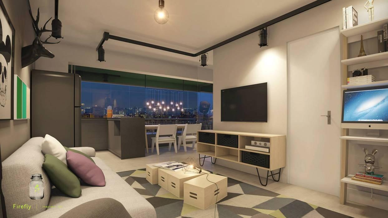 Industriale Wohnzimmer von STUDIO 52 Industrial