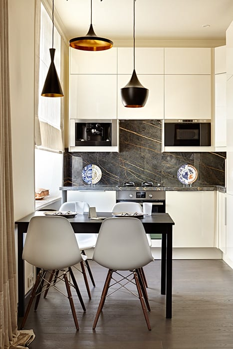 The Flat in Historical Building on Tsvetnoy Boulevard in Moscow Classic style kitchen by Olga Kulikovskaia-Ashby Classic