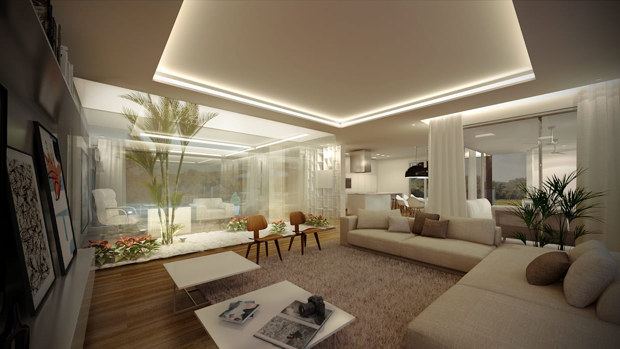 VISMARACORSI ARQUITECTOS Moderne Wohnzimmer