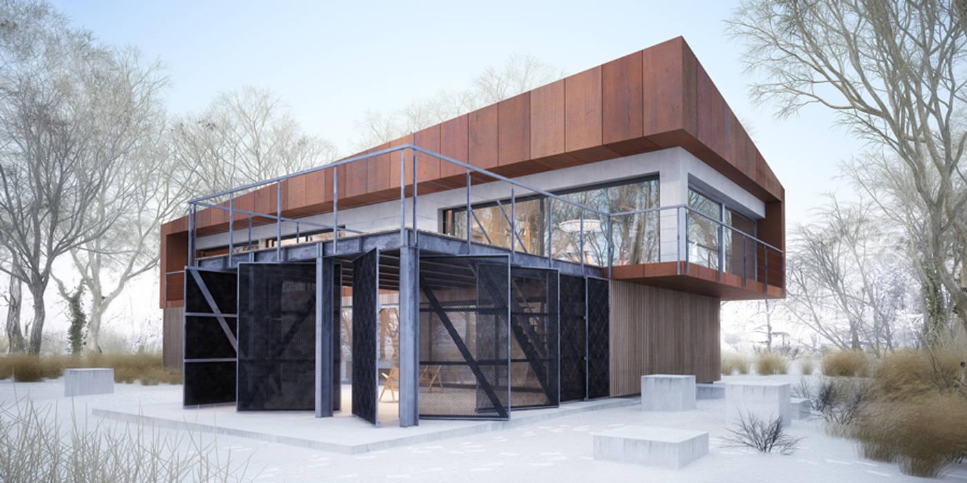 Projekty domów - House x07 Nowoczesne domy od Majchrzak Pracownia Projektowa Nowoczesny