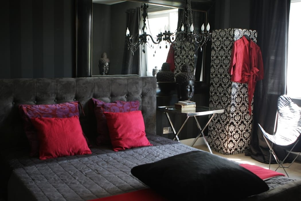 2kul INTERIOR DESIGN Eclectic style bedroom Textile Black