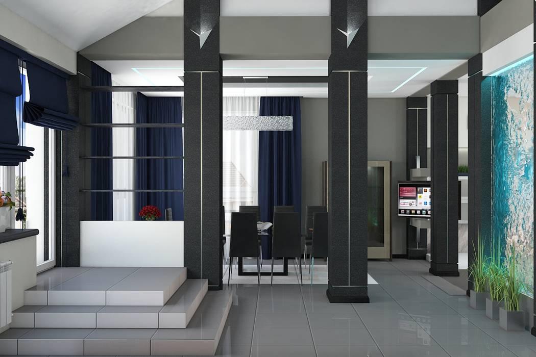 Salones minimalistas de Дизайн студия Жанны Ращупкиной Minimalista