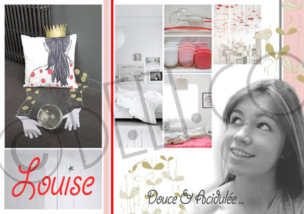 """""""Douceur acidulée"""" - Chambre adolescente: Chambre de style  par dEEEco"""
