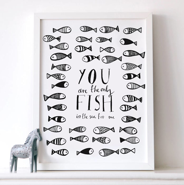 You are the only fish in the sea print de Karin Åkesson Design Escandinavo Papel