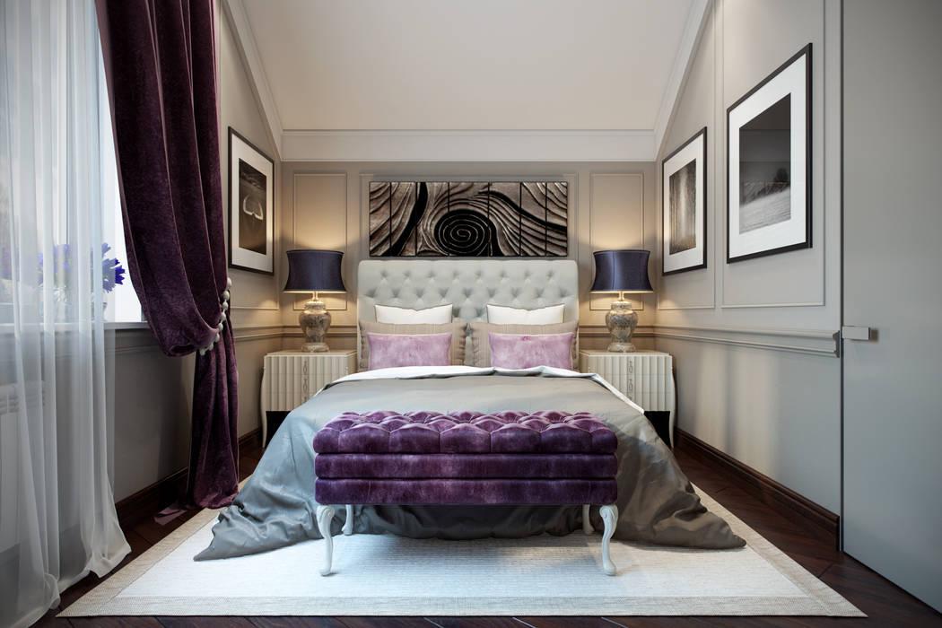 Таунхаус в г.Краснодар Спальня в эклектичном стиле от Design Studio Details Эклектичный