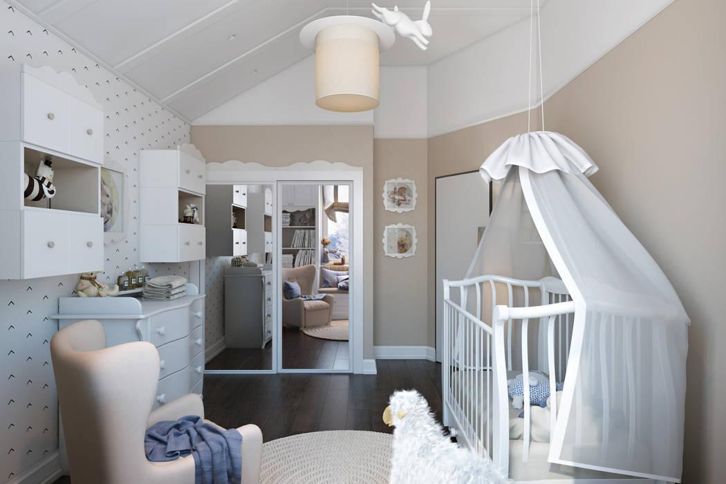 Таунхаус в г.Краснодар Детские комната в эклектичном стиле от Design Studio Details Эклектичный