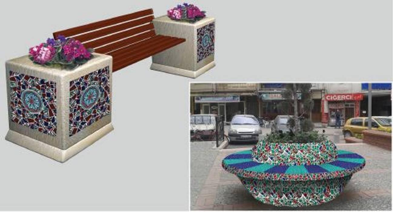ANİKYA İZNİK ÇİNİ – SİNPAŞ İSTANBUL SARAYLARI / HALKALI - İSTANBUL:  tarz Bahçe,