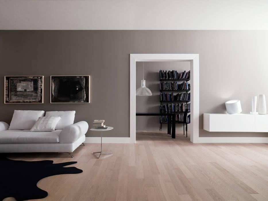 Dinding & Lantai Modern Oleh Skema Modern