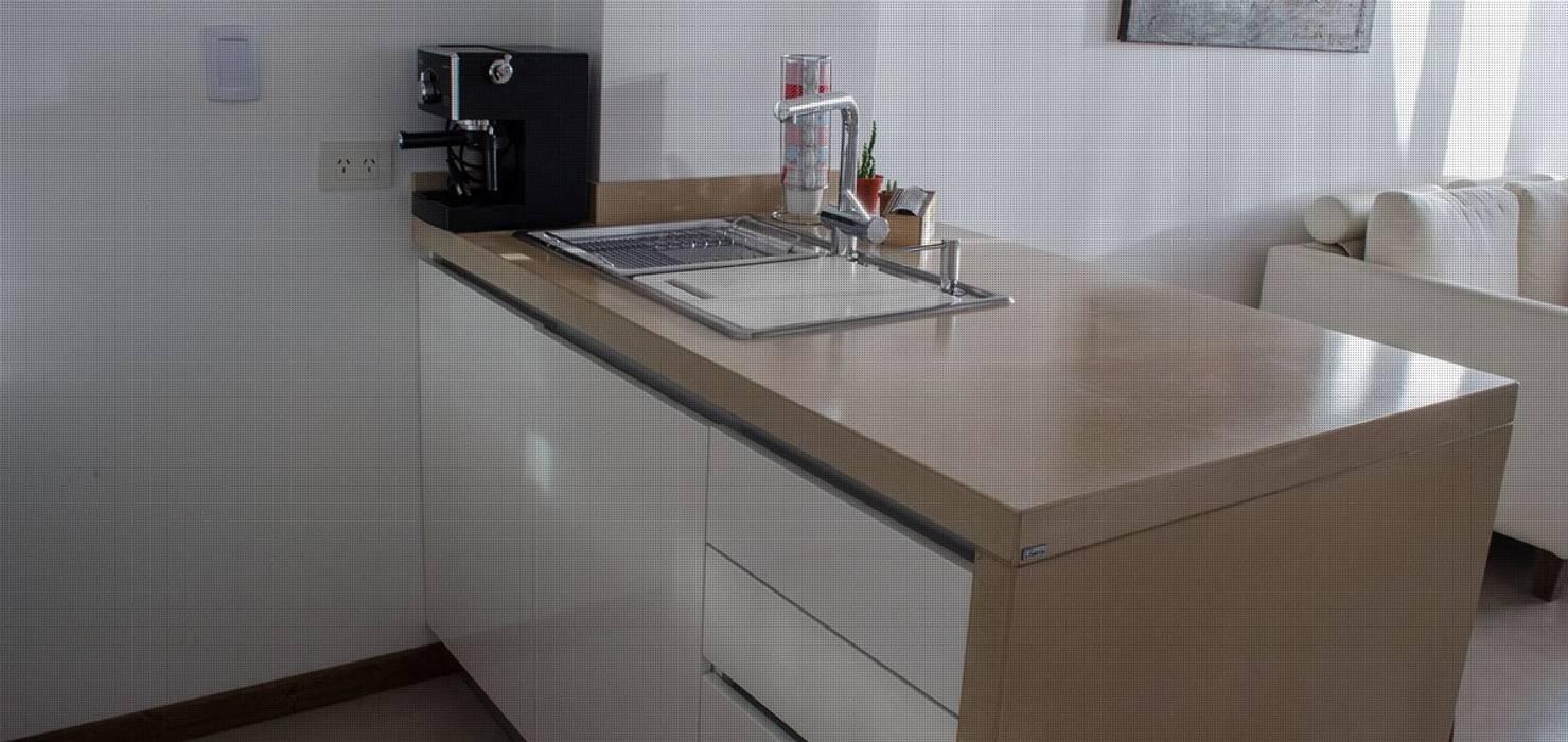 Remodelación Departamento LZ en Caballito Cocinas modernas: Ideas, imágenes y decoración de RSOarquitectos Moderno