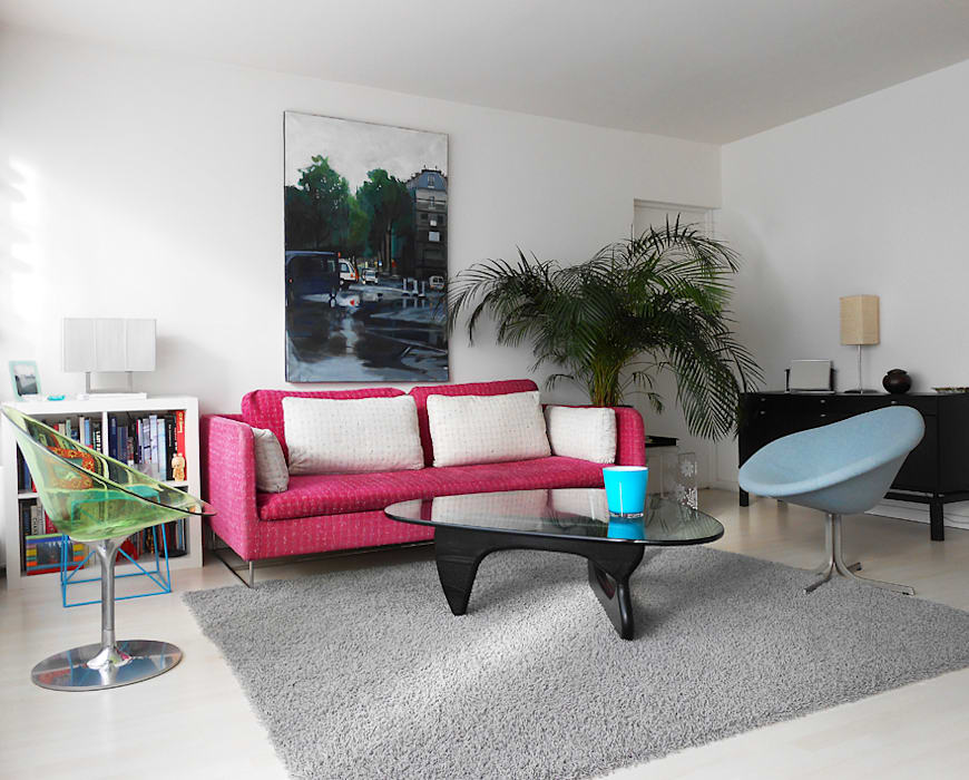 Salon Moderne Contemporain: Salon de style de style Moderne par Bulles Concept - Visualisation & Personnalisation de votre intérieur