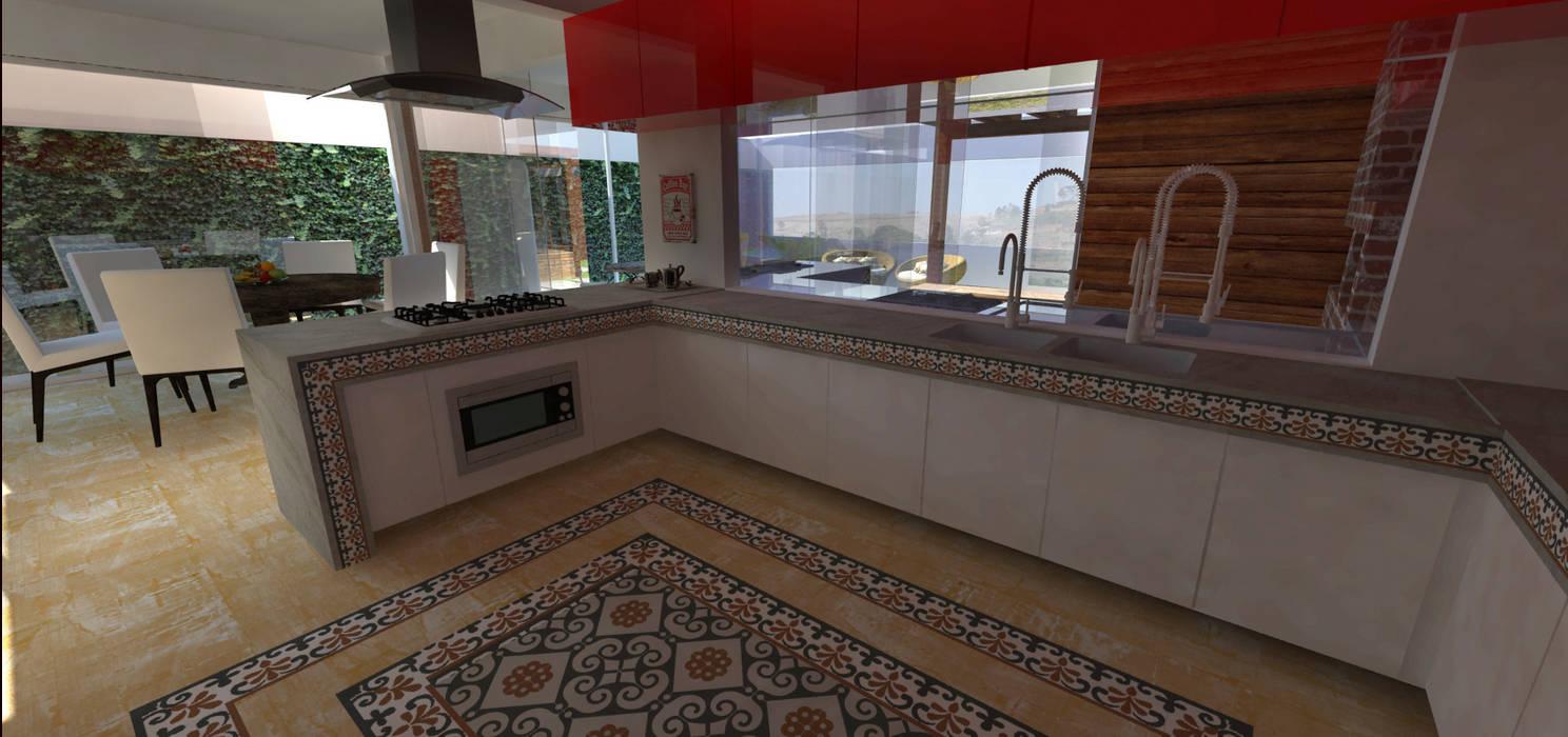 Casa em Poços de Caldas Cozinhas campestres por Futura Arquitetos Associados Campestre