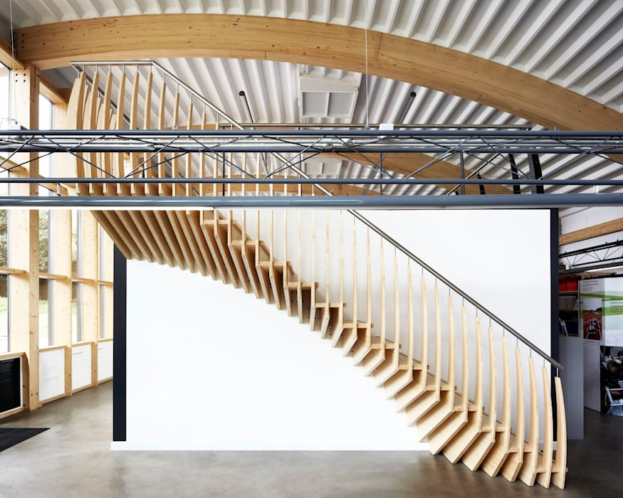 MindStep by ​EeStairs® par EeStairs | Stairs and balustrades Scandinave Bambou Vert