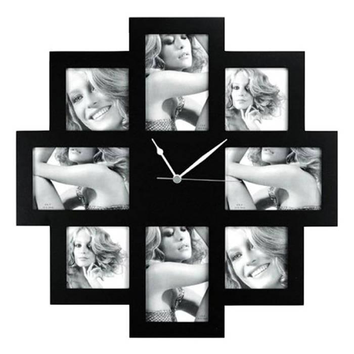 Horloge 8 photos par IdéeCadeau.fr Moderne