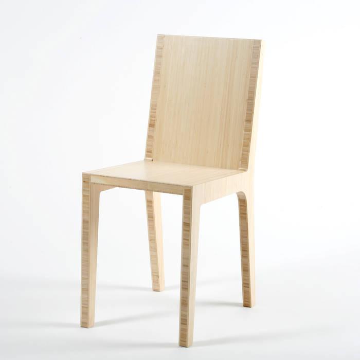 Bamboo chair par Studio Lara de Greef Moderne Bambou Vert