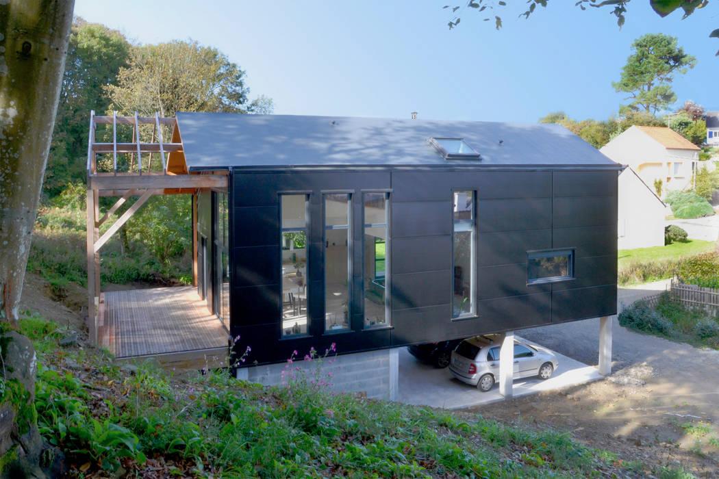Scandinavian style houses by Bertin Bichet Scandinavian Aluminium/Zinc