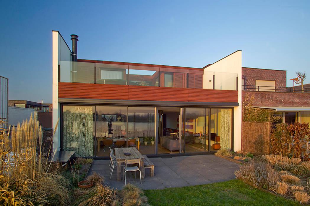 VILLA DE WAARD MENSINK, Ijburg, Amsterdam KENK Architecten:  Huizen door KENK architecten,
