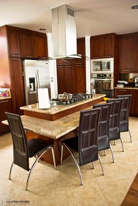 Casa Habitación - T.I Cocinas modernas: Ideas, imágenes y decoración de MATE - ARQUITECTOS Moderno Mármol