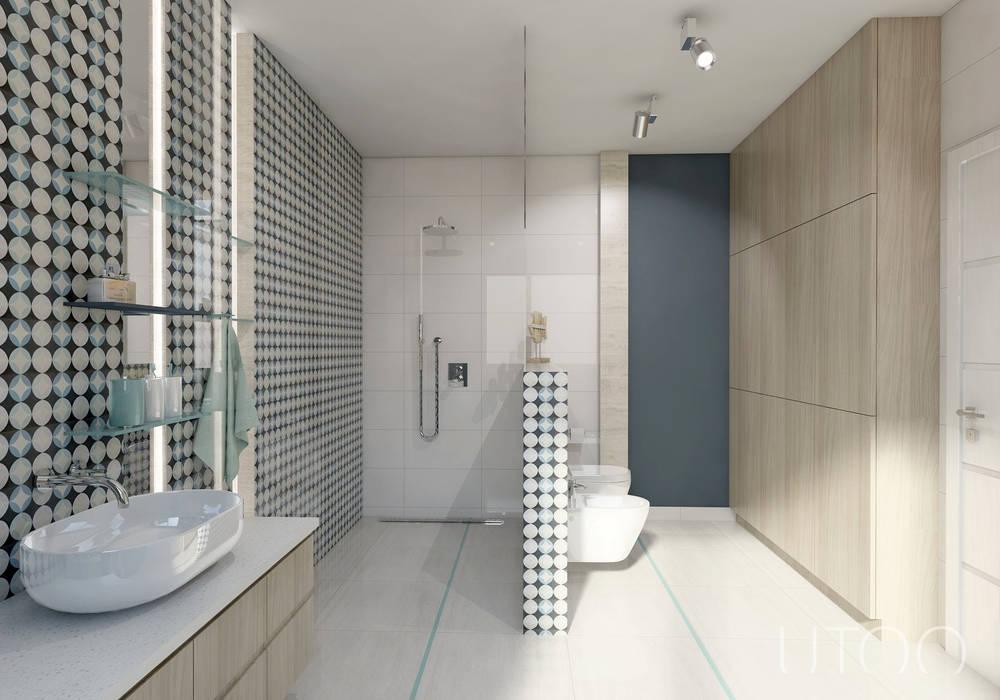 UTOO-Pracownia Architektury Wnętrz i Krajobrazu Modern style bathrooms