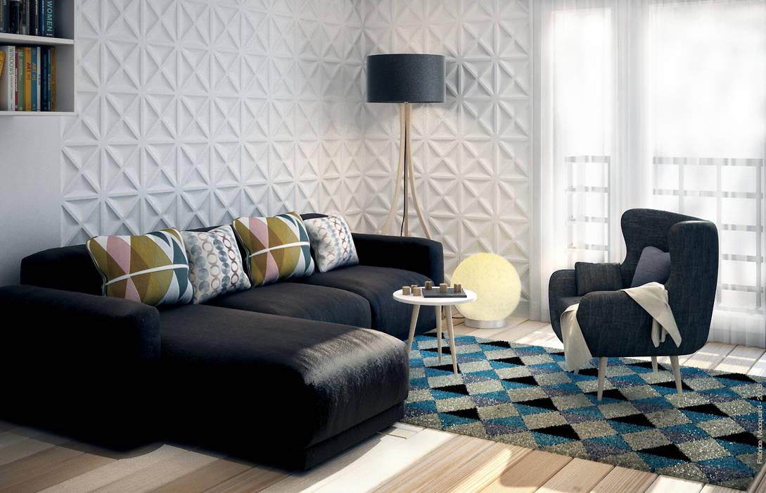 décoration d'un salon: Salon de style de style Moderne par Concept d'intérieur