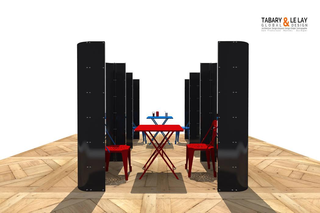 le plan à 2: Maisons de style de style Moderne par Tabary Le Lay