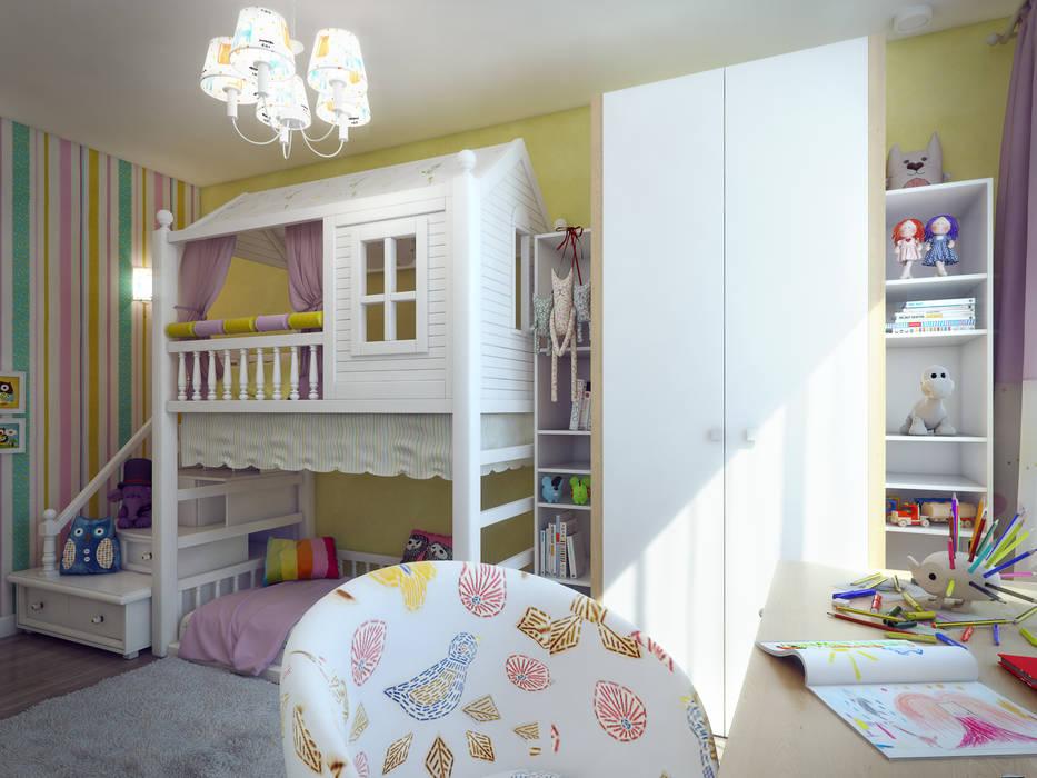 Детская для девочки: Детские комнаты в . Автор – Details, design studio, Эклектичный