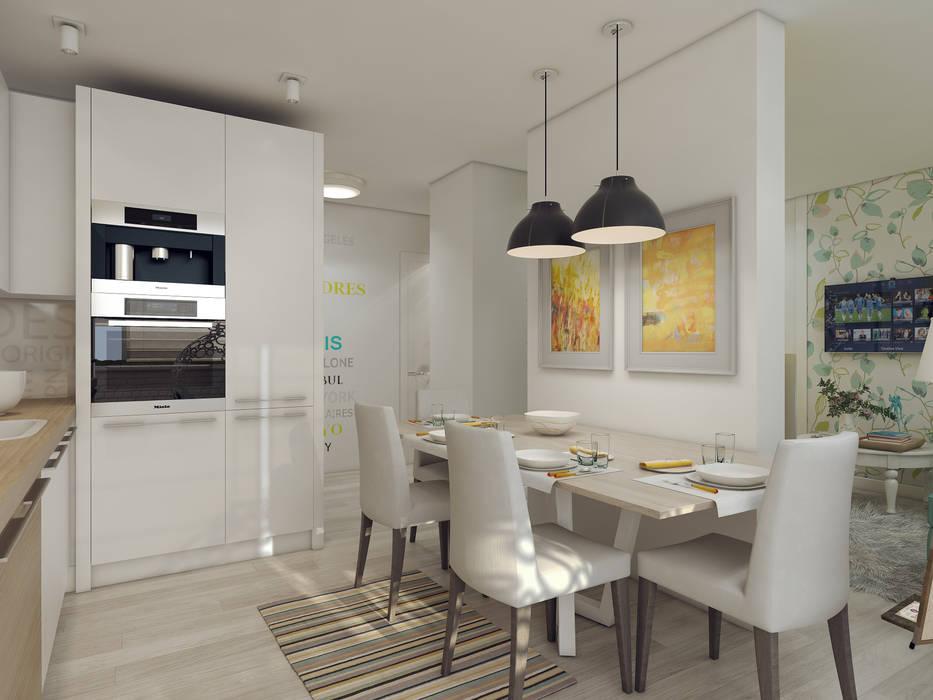 Дизайн-проект в ЖК Миргород: Кухни в . Автор – Details, design studio, Эклектичный