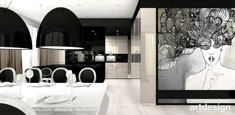 Ruang Makan Modern Oleh ARTDESIGN architektura wnętrz Modern