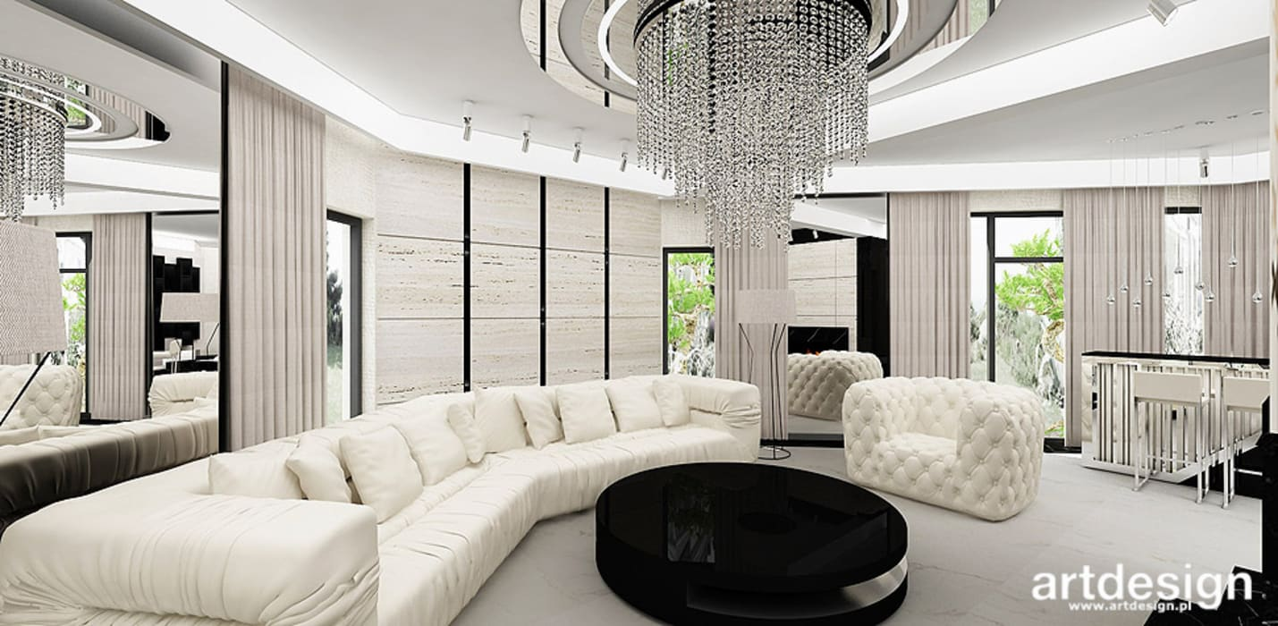 Modern Living Room by ARTDESIGN architektura wnętrz Modern
