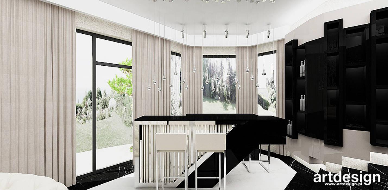 Salones de estilo moderno de ARTDESIGN architektura wnętrz Moderno