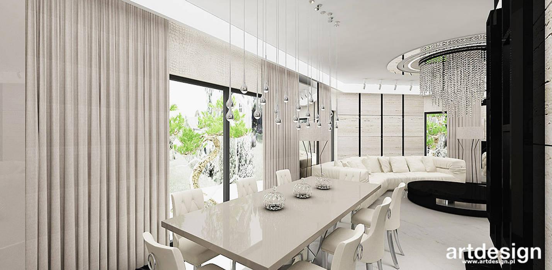 Comedores de estilo moderno de ARTDESIGN architektura wnętrz Moderno