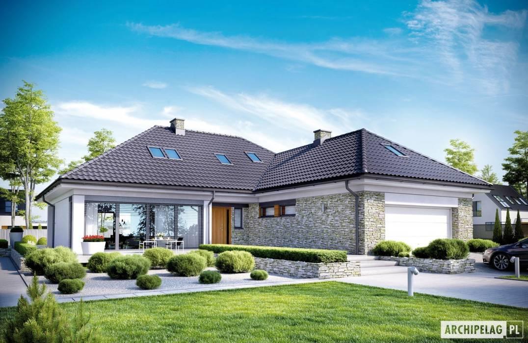 Projekt domu Magnus II G2 Pracownia Projektowa ARCHIPELAG Nowoczesne domy