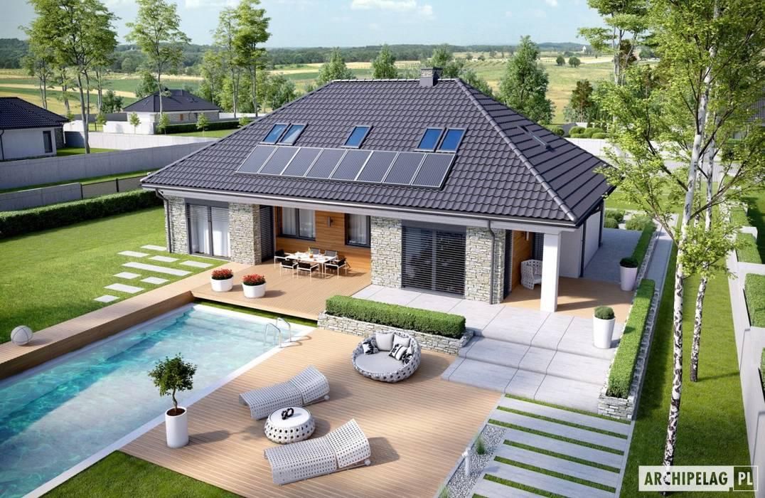 Pracownia Projektowa ARCHIPELAG : styl , w kategorii Domy zaprojektowany przez Pracownia Projektowa ARCHIPELAG