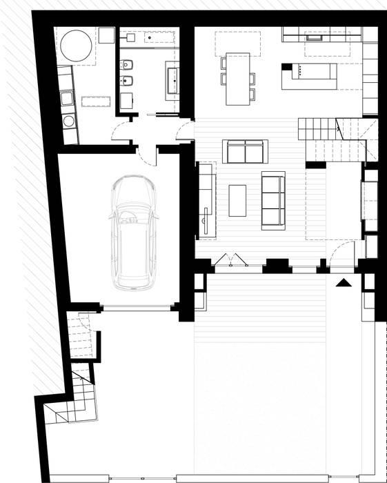 house r_p Federico Pisani Architetto Soggiorno moderno