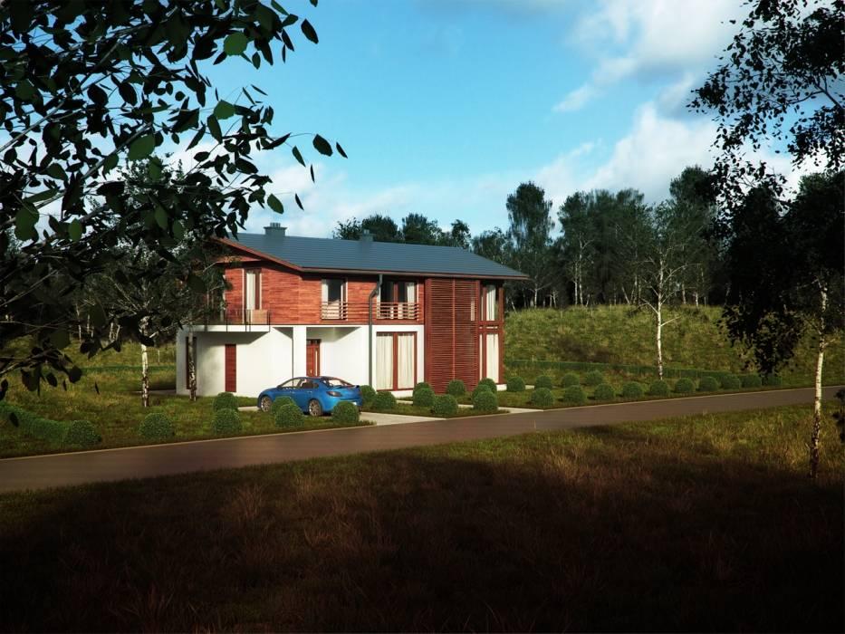 Projekty domów - House 10 Nowoczesne domy od Majchrzak Pracownia Projektowa Nowoczesny