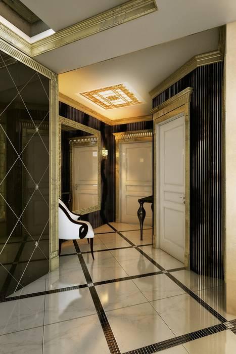 Золотая классика Коридор, прихожая и лестница в классическом стиле от Евдокимов Классический