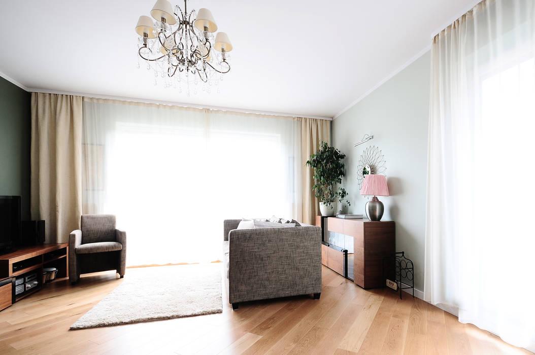 Mieszkanie? Naturalnie! - salon Nowoczesny salon od IDEALS . marta jaślan interiors Nowoczesny